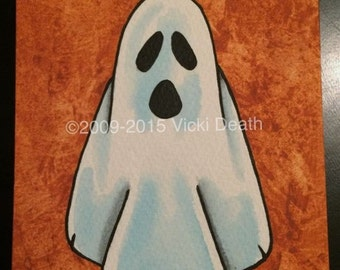 Boo!!! Ghost Original Painting