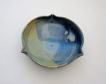 Stoneware bowls, thrown and altered.