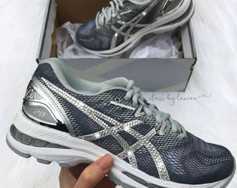 Swarovski Asics Gray Shoes