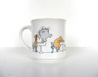 Vintage Sandra Boynton Teachers Mug, The Joys Of Teaching Mug, Teachers Gift Idea, Teachers Appreciation, Humorous 80s Mug