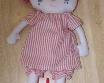 Pink haired stuffed doll