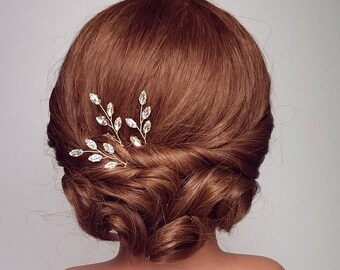 Wedding Hair Piece, Rhinestone Vine Hair Comb, Bridal Hair Pieces, Vine Hairpieces, Bridal Accessory, Branch Hairpiece, Vine Hair Pin