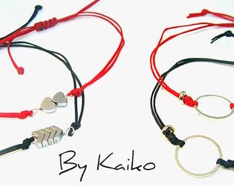 Couple bracelets, hematite bracelets, for her for him, valentine gift, jewelry set,Minimalist bracelet,  Boyfriend Girlfriend bracelet,