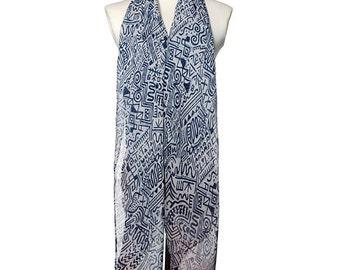 Womens Scarf, Black Scarf,  Floral Print Scarf,  Fashion Scarf, Chiffon Scarf, Voile Scarf, Cotton Scarf
