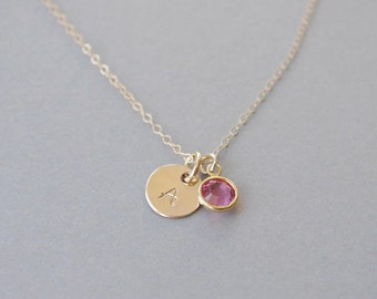 Girl Initial Necklace, Little Girl Necklace, Personalized Necklace Girl, Birthstone Necklace, Birthday Gift, Girls Jewelry, Coworker Gift