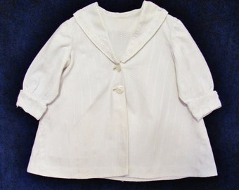 Girl's antique spring coat, early 1900's Edwardian little girl's white coat