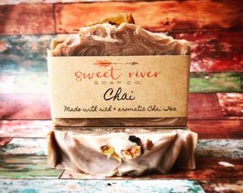 Chai Tea Soap, Goats Milk Soap, Sweet River Soap Co, Cold Process