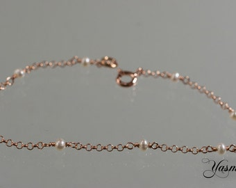 Pearl very delicate rose gold plated