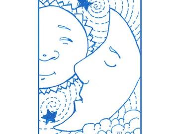 Whimsical ACEO Print of Sun, Moon, Wall Decor, ATC