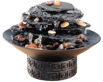 HoMedics WF-ROCK Envirascape Rock Garden Tabletop Relaxation Fountain