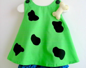 Baby and Toddler Green Pebbles Flintstone Costume