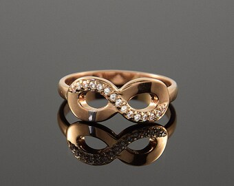 Eternity ring, Eternity band, Promise ring, CZ ring gold, Infinity ring, Forever ring, Custom stone ring, Romantic ring, Gift for her ring