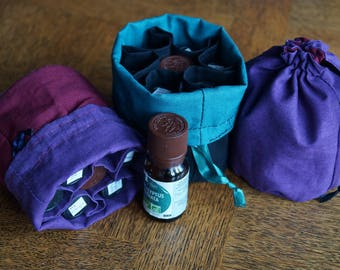 7 essential oils storage and carrying pouch