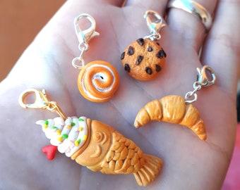 Progress keepers Realistic food taiyaki stitch markers cookie croissant cinnamon roll