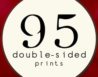 95 PRINTS - DOUBLE SIDED Printed Invitations Cards - 86441419