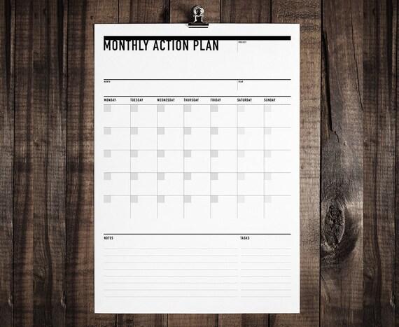 Druckbare monatliche Kalender Schüler-Planer Student Agenda