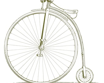 Woodcut Vintage Bicycle – Digital Download