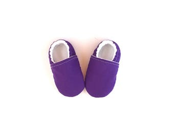 Violet PURPLE BABY SHOES, baby girl booties, baby girl shoes, purple baby booties, purple booties, purple clothing, vegan moccs, baby gift