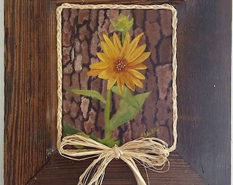 Forest Flower in Barnwood Frame