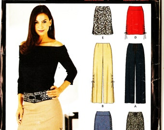 Simplicity 0628 Misses' Lace Up Trim Skirt and Pants in Different Lengths Sewing Pattern 12-18