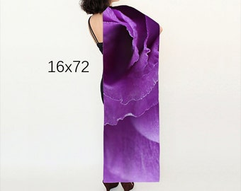 Women's Purple scarf, Wearable Art, Abstract Floral scarf, Nature Photo scarf, Elegant Flower Scarf, Violet Wedding shawl, Gift for Women