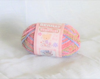 Baby Stretch 30500, Bernat Yarn, Boomerang, multicolor, boucle, destash new