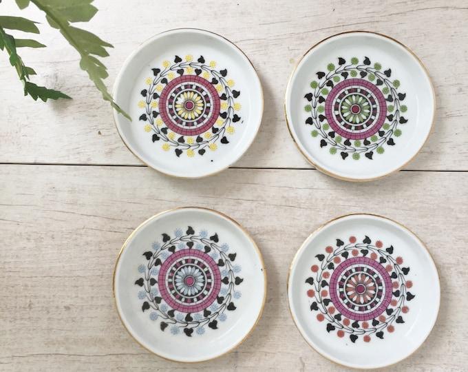 Moroccan Ceramic Coasters Round with Lip