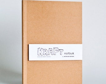 Kraft Paper Notebook in A5 size