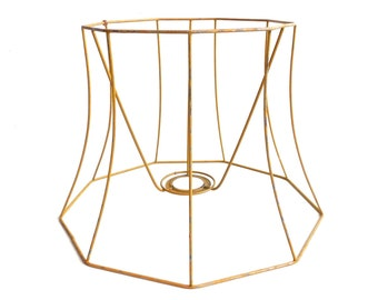 Wire lamp shade frames wire center lampshade frame wire frame authentic vintage lampshade wire frame rh etsystudio com wire lampshade frames for greentooth Gallery