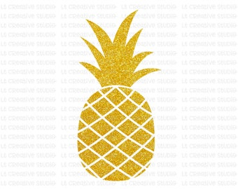 Pineapple SVG, Glitter Pineapple Clipart, SVG Files, Cricut Cut Files, Silhouette Cut Files