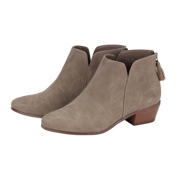 Monogrammed Taupe Black and Short Boots Ankle RzwxnCqRF