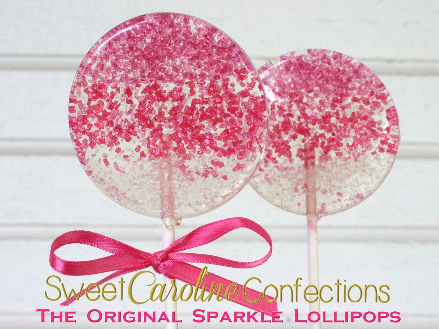 Pink Ombre Lollipops Magenta Hot Pink and Light Pink Ombre