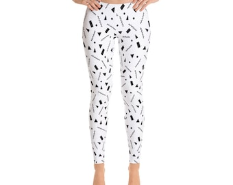 Black and white confetti Leggings