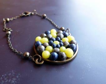Beaded star Medallion bracelet