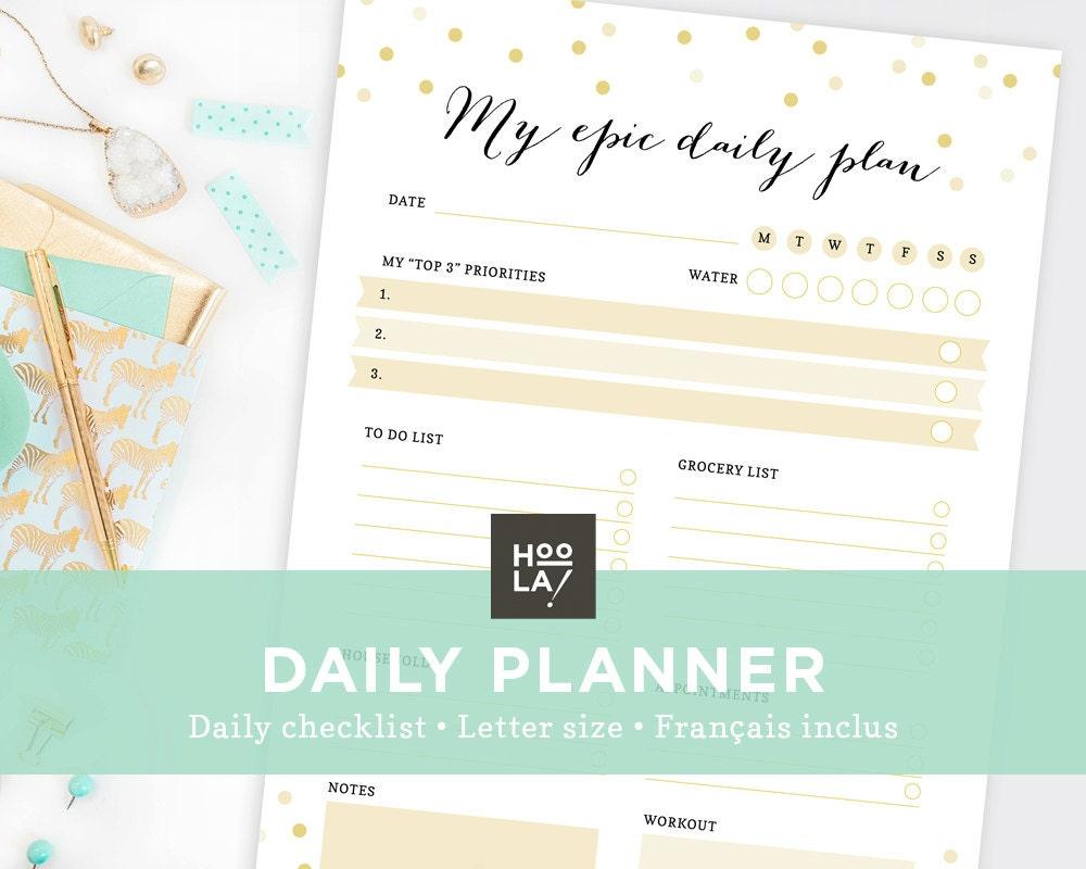 Printable daily planner to do list printable organizer zoom stopboris Gallery