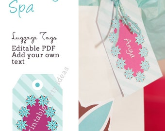 Pacific Beauty Spa Luggage Tags