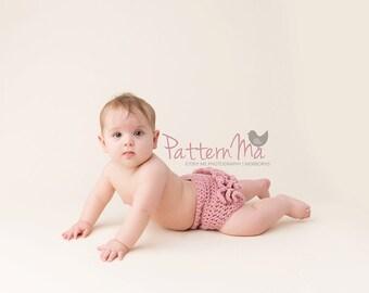 Crochet Ruffle Diaper Cover Pattern #19