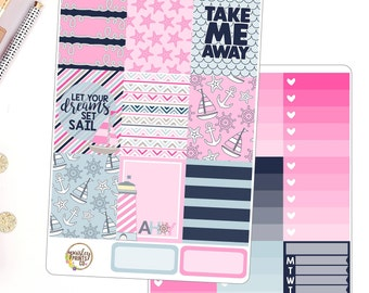 Take Me Away Weeky Kit Planner Stickers for use in Erin Condren