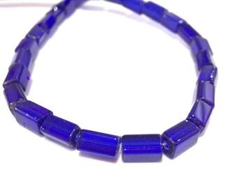 ❤ X 42 glass beads long 13x4mm ❤