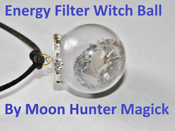 Empathy Shield Energy Filter Amulet Mini Witch Ball Witch Bottle Pagan Wicca Reiki