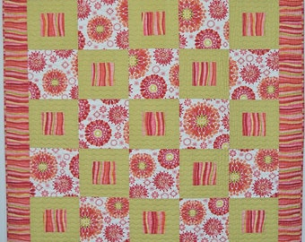 Modern Tropical Bright color Handmade Patchwork Quilt