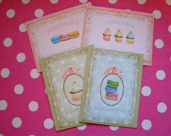 Valentine Cards- Macaroons & Cupcakes
