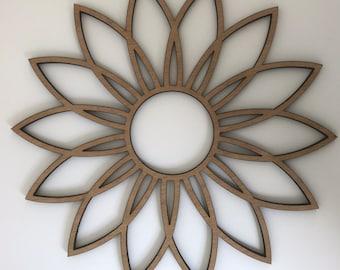 Wooden Laser cut Coaster flower