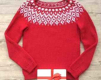 Christmas sweater Icelandic style