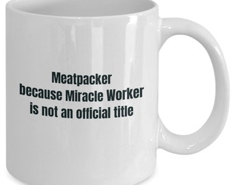 Meatpacker gifts coffee travel cup mug gift men women