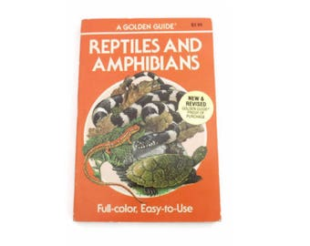 Golden Guide Book Reptiles and Amphibians Snakes Lizards Turtles Nature Handbook Science Reference Manual Paperback Fieldguide