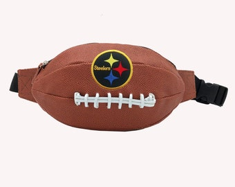Pittsburgh Steelers Football Shape Fanny Pack