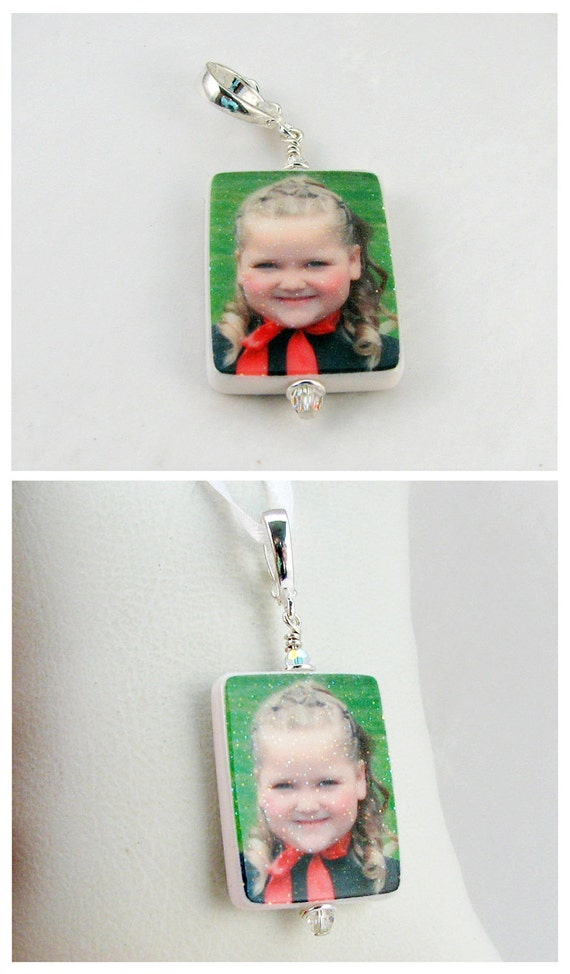 Glitter Clay Photo Pendant Keepsake - Medium - P2G