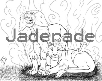 pokemon inspired coloring page pyroar