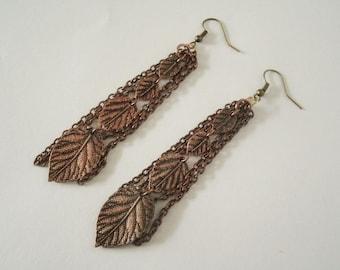 Copper Earrings, boho jewelry bohemian jewelry gypsy jewelry hippie jewelry hippie earrings bohemian earrings boho earrings copper jewelry